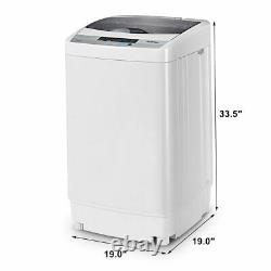 1.34 Cu. Ft Spin Washer Portable Compact Washing Machine Drain Pump 8 Water Level