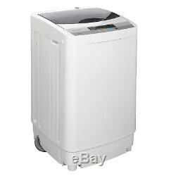 10 LBS Large Capacity Full-automatic Washing Machine Gray Laundry 2 in 1 Washer