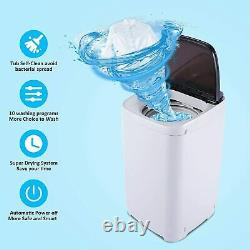 13.6lbs Full-Automatic Washing Machine Portable Top Load Washer and Dryer 2-IN-1