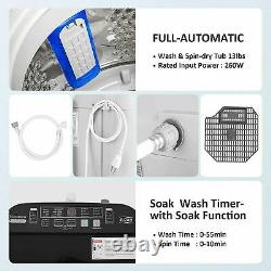 13.6lbs Full Automatic Washing Machine Portable Top Load Washer and Dryer 2-IN-1