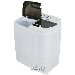 13lb Portable Washing Machine Twin Tub Washer Spin Cycle 1300RPM Powerful Motor