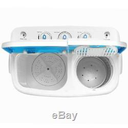 13lbs Portable Mini Twin Tub Compact Washing Machine Washer Spin Dryer With Hose
