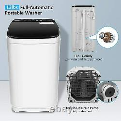 14LBS 2-IN-1 Full-Automatic Washing Machine Compact Portable Laundry Washer