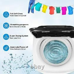 15.6lbs Full Automatic Washing Machine 2 IN 1 Portable Top Load Washer and Dryer