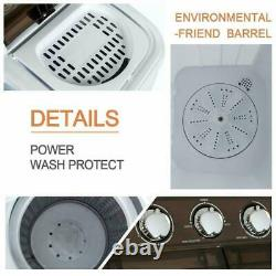 16.5LBS Washing Machines Semi-Automatic Compact Washer Spinner for Apartments