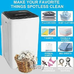 16.5lbs Mini Full-Automatic Washing Machine Portable Compact Laundry Washer Spin