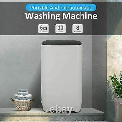 16lbs 2In1 Washing Machine Full Automatic Laundry Washer Dryer Shock Absorption