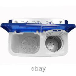 16lbs Compact Portable Washing Machine Twin-Tub Spiner Laundry Washer & Dryer