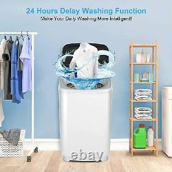 16lbs Full Automatic Washing Machine 2 IN 1 Portable Top Load Washer Spin Dryer