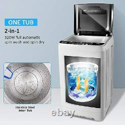 17.5lbs 2-IN-1 Washing Machine Full-Auto Compact Laundry Washer Shock Absorption