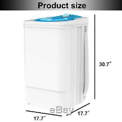 17.6 LBS Compact Spinner Mini Dryer Draining Laundry Home Dorms 1500 RPM White