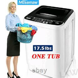 17.6lbs 2 IN 1 Full Automatic Washing Machine Portable Laundry Mute Washer Dryer