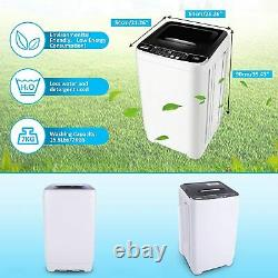 17.6lbs 2 IN 1 Full Automatic Washing Machine Portable Laundry Washer and Dryer