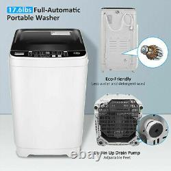 17.8lbs 2 IN 1 Full Automatic Washing Machine Portable Laundry Washer Dryer HOME