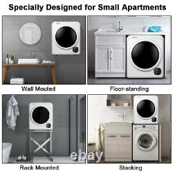 1700W Electric Tumble Laundry Dryer Stainless Steel Tub 13.2 lbs /3.22 Cu. Ft NEW