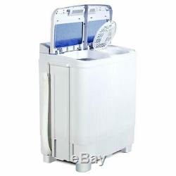 17LBS Portable Mini Washing Machine Compact Twin Tub Washer Laundry Spiner Dryer