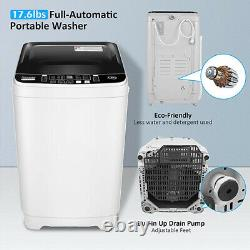 18lbs 2 IN 1 Full Auto Washing Machine 1.9 Cu. Ft Compact Washer Shock Absorption