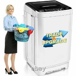 2 IN 1 Auto Washing Machine 26lbs Compact Portable Laundry Washer Spin Dryer