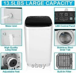 2 IN 1 Automatic Washing Machine Compact Portable Large Laundry Washer and Dryer