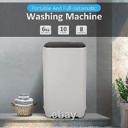 2-IN-1 Full-Auto Washing Machine 15.6lb Compact Portable Washer Shock Absorption