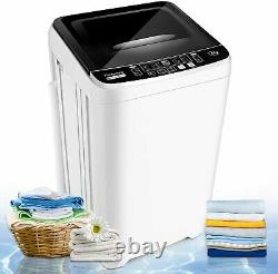 2-IN-1 Full-Auto Washing Machine 17.6lb Compact Portable Washer Shock Absorption