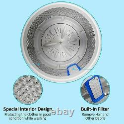 2-IN-1 Full Auto Washing Machine 21.5lb Compact Portable Washer Shock Absorption