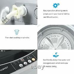 2 in 1 Portable Washing Machine Full-Automatic Compact 13lbs Washer & Spinning