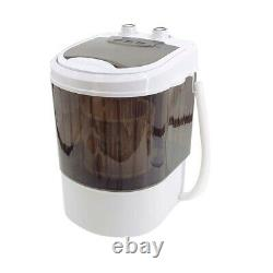 2 in 1 Washer & Dryer Mini Washing Machine Compact Portable and Spin Dryer Brown