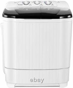 21.5lbs Portable Mini Twin Tub Compact Washing Machine Washer Spin Dryer With Hose