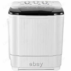 21LBS Compact Portable Washing Machine Twin Tubs Spiner Dryer Laundry Washer US