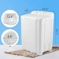 21LBS Compact Washing Machine Twin Tubs Spiner Top Load Laundry Washer Dryer USA