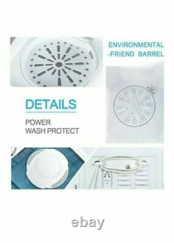 21LBS Mini Portable Washing Machine with Drain Pump Compact Twin Tub Spinner Dryer