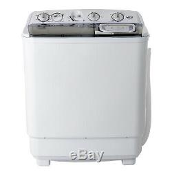 21LBS Mini Semi-Automatic Compact Washing Machine Twin Tub Washer Spiner Laundry