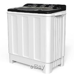 24LBS Compact Washing Machine Twin Tub Portable Washer Spinner Laundry Dryer