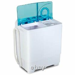 26 LBS Washing Machine Compact Twin Tub with Drain Pump Laundry Spinner Dryer Home