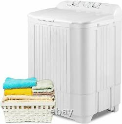 26LBS Compact Portable Washing Machine Twin-Tub Spiner Laundry Washer and Dryer