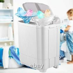 26LBS Compact Portable Washing Machine Twin Tub with Drain Pump Spiner Dryer Best