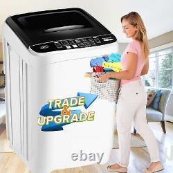 26lbs 2 IN1 Automatic Washing Machine Compact Portable Laundry Washer Spin Dryer