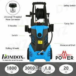 3000PSI 1.8GPM Electric Pressure Washer High Power Cold Water Washing Machine'