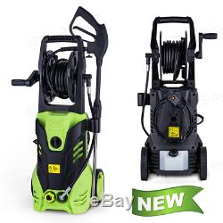 3000PSI 1.8GPM Electric Pressure Washer Washing Machine With Hose Reel 5 Nozzles
