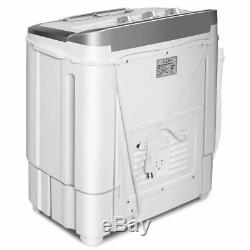 8 lbs Compact Mini Twin Tub Dryer Washing Machine
