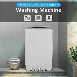 8KG Portable Mini Twin-Tub Compact Washing Machine Washer Spin Dryer 8 Levels