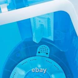 9.9lbs Mini Lightweight Washer Twin Tub Washing Machine for camping, dorms withHose