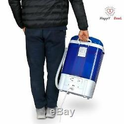 9 lbs Portable Mini Washing Machine Compact Washer Spin Dryer RV Dorm Rooms