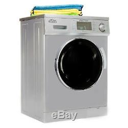 All-in-One 1.6 cu. Ft. Compact Combo Washer and Electric Dryer in Silver