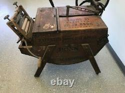 Antique The Boss Number 32 Wooden Washing Machine