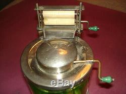 Antique/Vintage Green Vaseline Depression Glass Busy Betty -Toy Washing Machine
