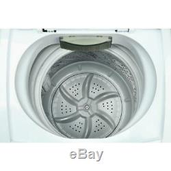 Compact 0.9 cu ft. Portable top load washer in white magic chef led display