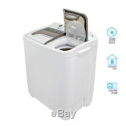 Compact Portable Washer & Dryer with Mini Washing Machine and Spin Dryer- White