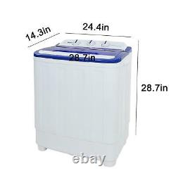 Compact Portable Washer & Dryer with Washing Machine and Spin Dryer White